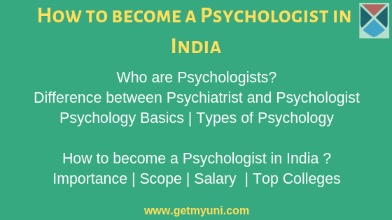 How to become a Psychologist in India