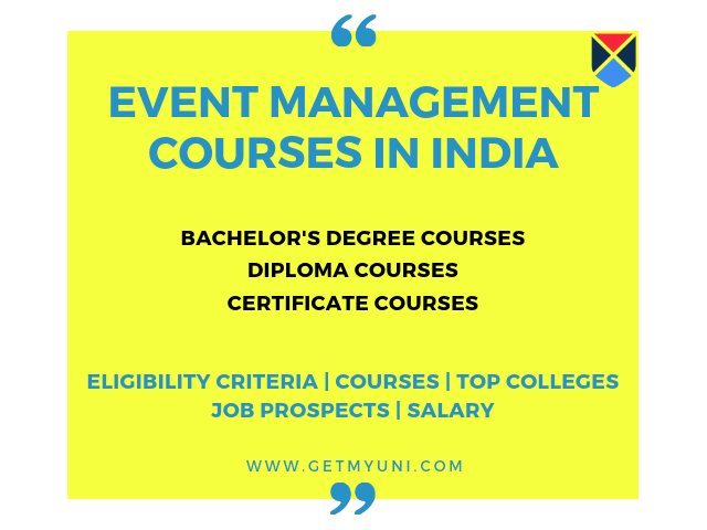 Event Management Courses after 12th