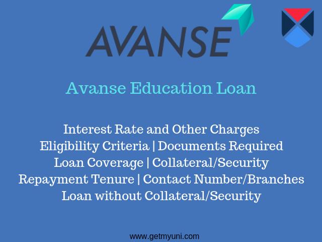 Avanse education loan