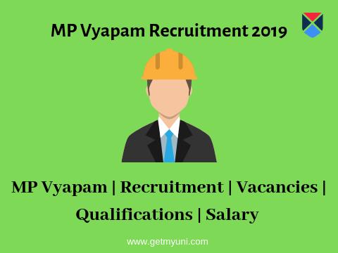 MP Vyapam Recruitment 2019