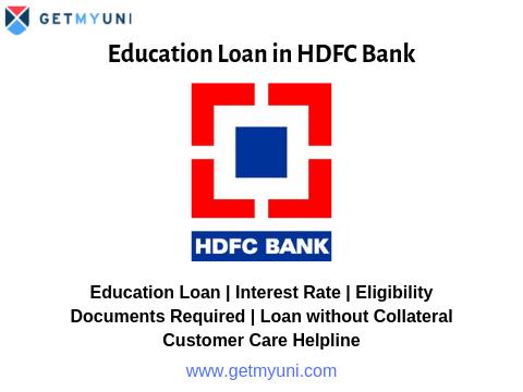 Education Loan in HDFC Bank