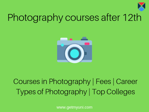 Photography courses after 12th