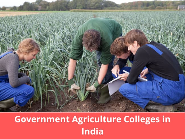 Government Agriculture Colleges in India