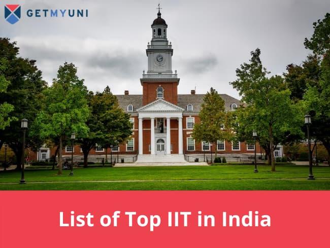 List of Top IIT in India NIRF Rank wise