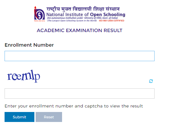 NIOS 10th Result 2021