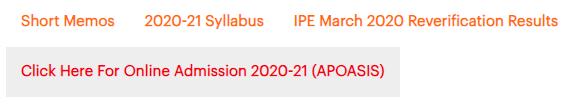 AP Inter Online Admission 2020