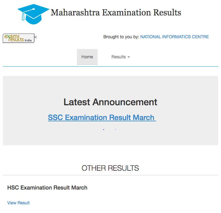 Maharashtra Board Result Website