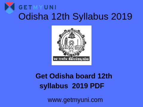Odisha (CHSE) 12th Syllabus 2019 | Syllabus for Science, Commerce