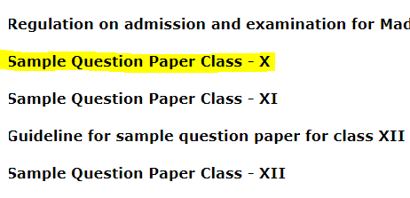 TBSE 10th Sample Paper 2020