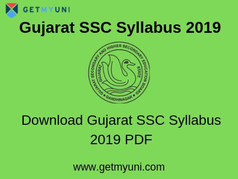 Gujarat SSC Syllabus 2019 | GSEB Class 10th Syllabus 2019