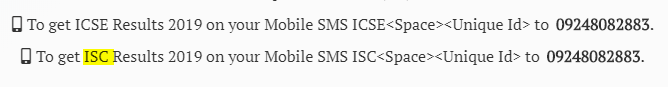 ISC Result 2019