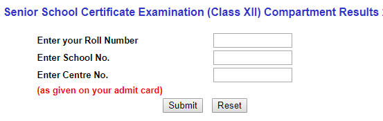 CBSE Class 12th Results - Compartment 2020