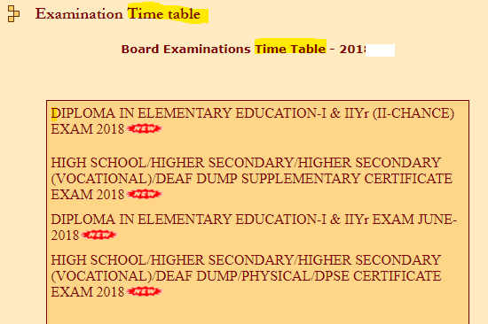 MPBSE 2019 Class 10 time table