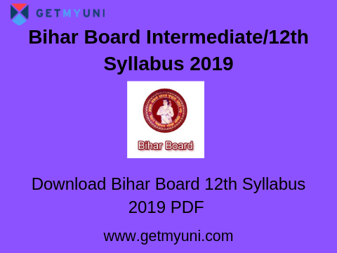 Bihar Board Intermediate/12th Syllabus 2020 | Science