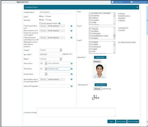 ICSE Registration Process