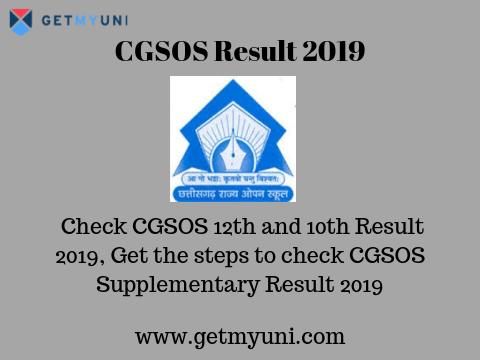 CG Open School Result 2019 (Declared) | Check CGSOS Results 2019
