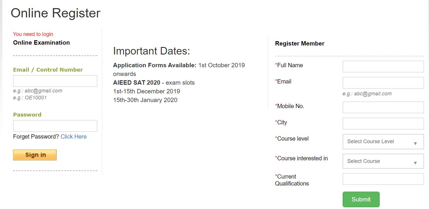 AIEED Registration Form