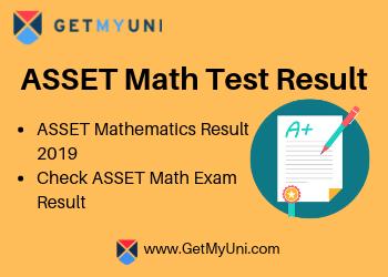 ASSET Math 2019 Results   Check ASSETS Math Exam Results