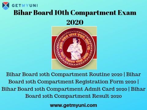 Bihar Board 10th Compartment Exam 2020