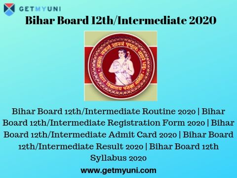 Bihar Board 12th/Intermediate 2020