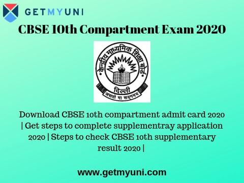 CBSE 10th Compartment Exam 2019