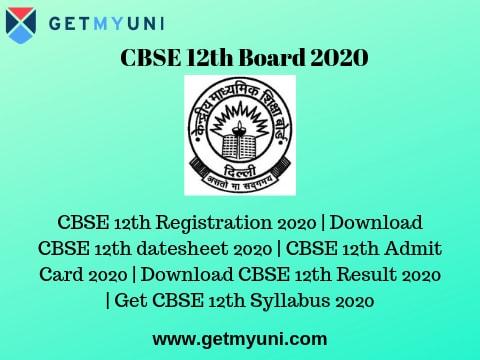 CBSE 12th Board 2020