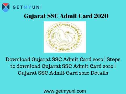 Gujarat SSC Admit Card 2020