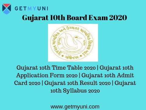 Gujarat 10th Board Exam 2020 Gujarat Ssc Board 2020