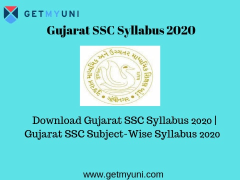 Gujarat SSC Syllabus 2020 | GSEB Class 10th Syllabus 2020