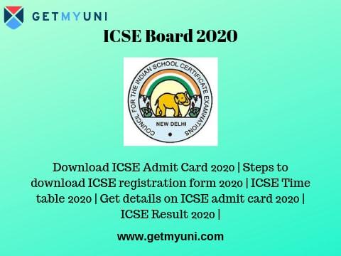 ICSE Board 2020