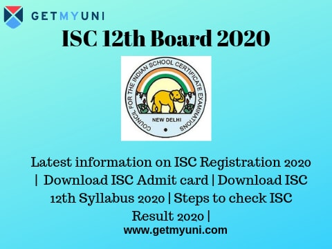 ISC 12th Board 2020