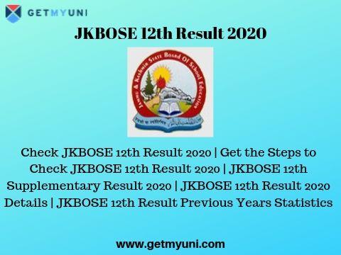Jkbose 12th class result 2020 jammu division