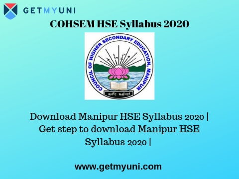COHSEM HSE Syllabus 2020 | Download the Manipur 12th