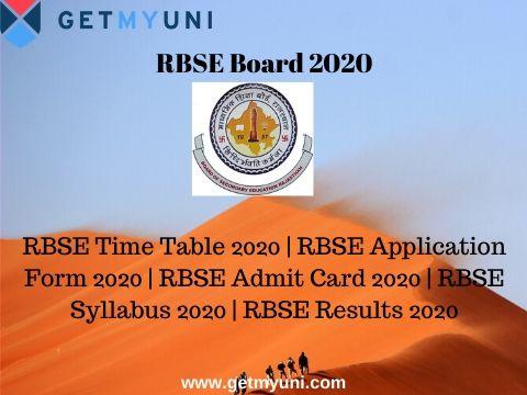 RBSE Board 2020