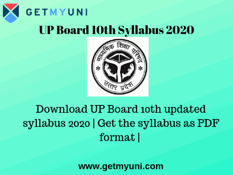 UP Board 10th Syllabus 2020 | Download the updated UP Board