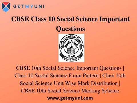 Class 10th Social Science