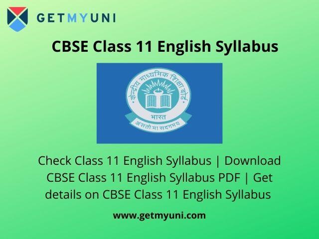 CBSE Class 11 English Syllabus