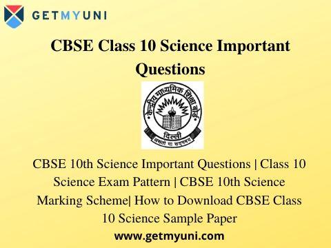 CBSE 10th Science