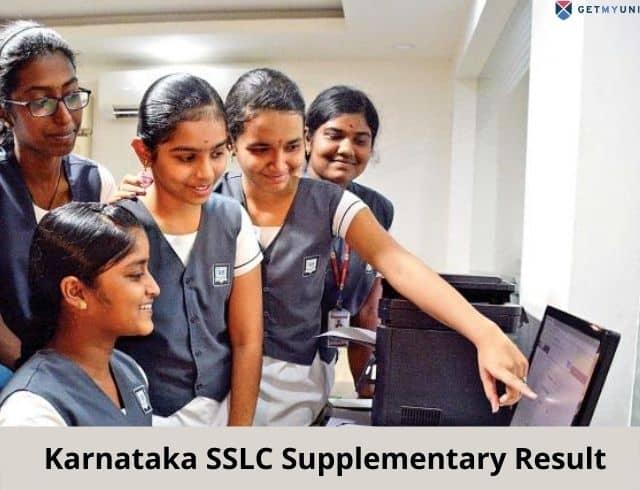 Karnataka SSLC Supplementary Result