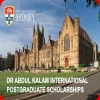 Dr Abdul Kalam International Postgraduate Scholarship