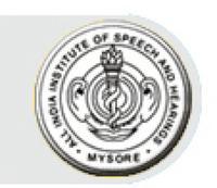 All India Institute of Speech and Hearing, [AIIOSAH] Mysore logo