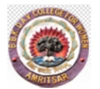 BBK DAV College for Women, [BBKDAV] Amritsar logo