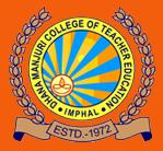 Dhanamanjuri College of Teacher Education, Imphal logo