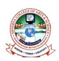 Minerva College of Arts and Science, [MCAS] Salem logo