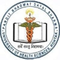 Pandit Bhagwat Dayal Sharma University of Health Sciences, [PBDSUHS] Rohtak logo