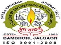 Shrama Sadhana Bombay Trust's College of Engineering and Technology, [SSBTCET] Jalgaon logo